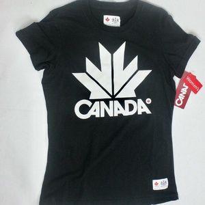 Canada Women's Olympics Black T-shirt (S/P)